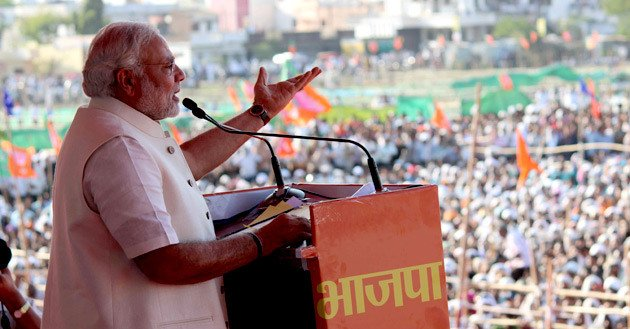 Narendra Modi campaigning at the Jana Chetna Rally - CC BY-SA 2.0