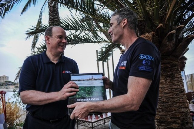 Lewis Pugh meets Prince Albert II - Seven Swims in the Seven Seas for 1 Reason