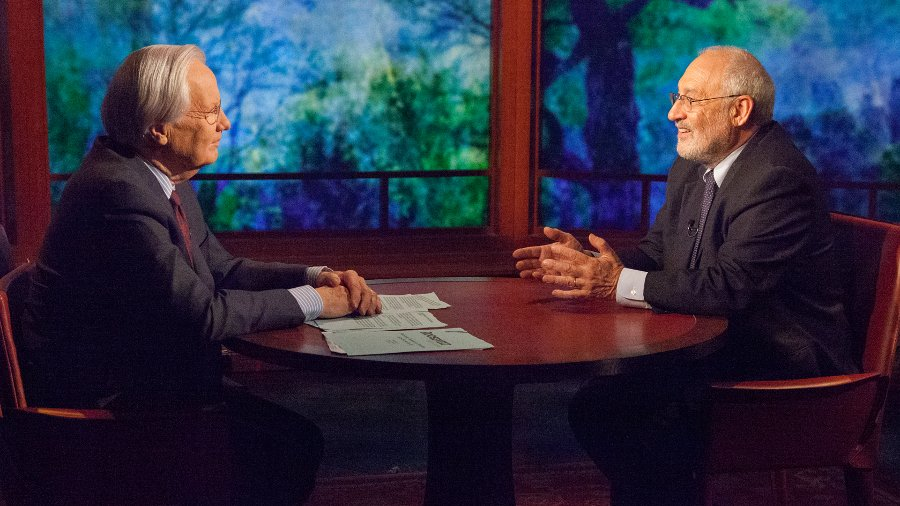 Joseph Stiglitz with Bill Moyers - CC BY 2.0
