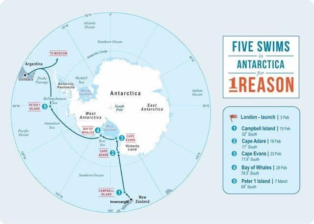 Lewis Pugh - Antarctica Swim