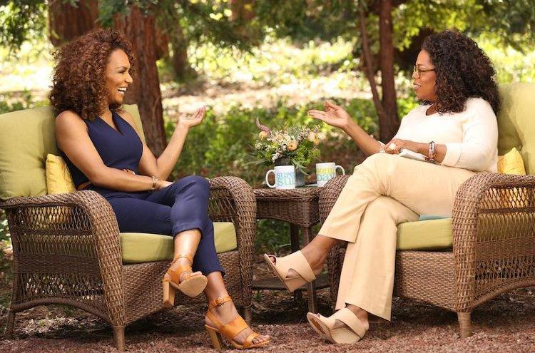 Oprah Winfrey with Janet Mock