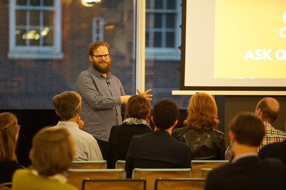 Nick Southgate event at WeWork