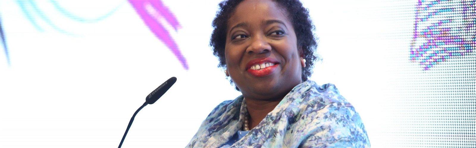 Suki Fuller speaking at event