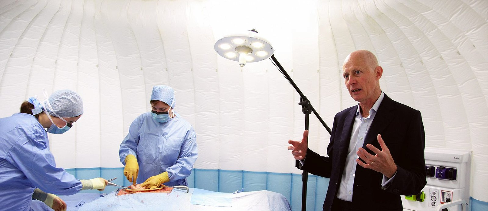 Roger Kneebone in surgery room