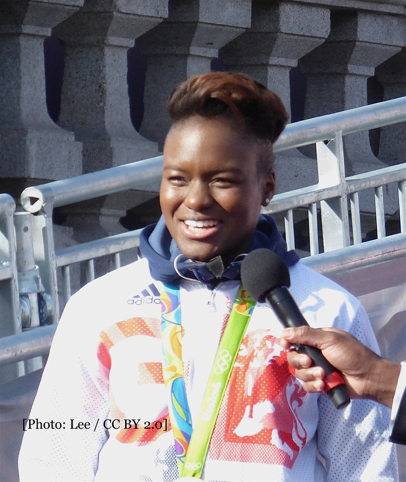 Nicola Adams at an event