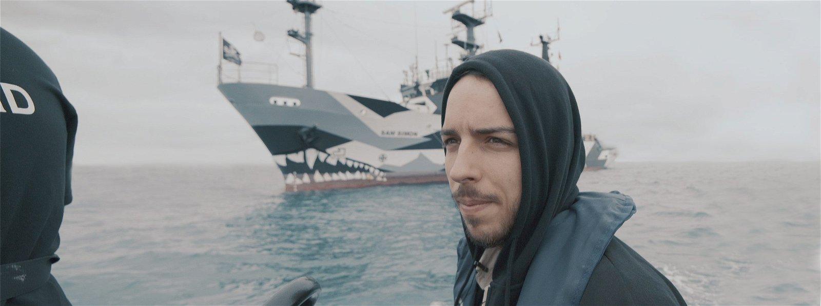 Ali Tabrizi on a boat