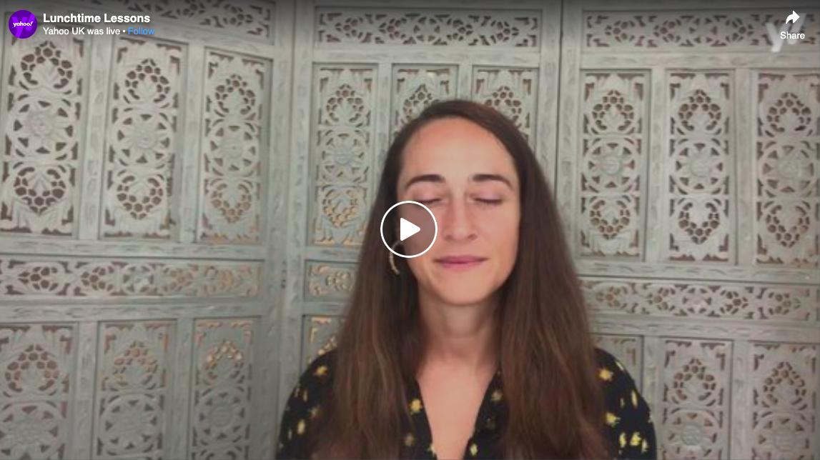 Yahoo UK   Lunchtime Lessons - Meditation - Veronica Amarelle