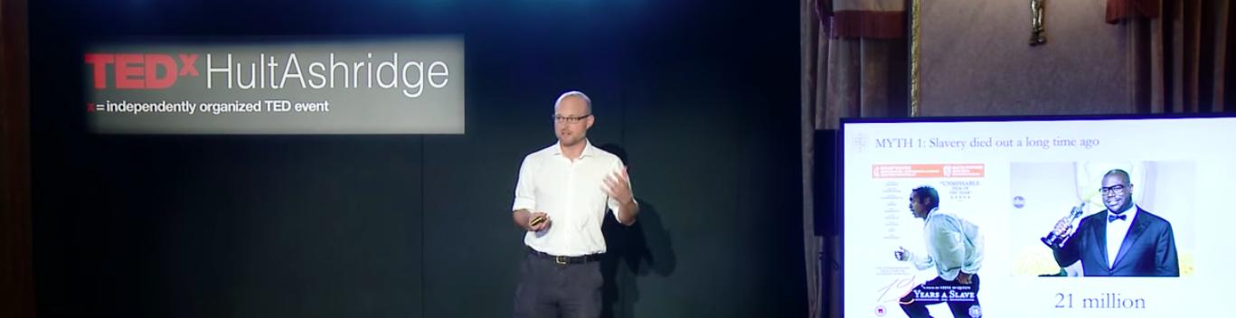 Matthew Gitsham speaking at TED event